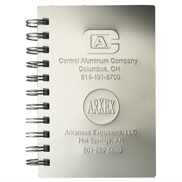 Customized AlloyJournal (TM) Large Aluminum Jotter Pad