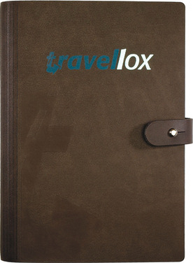 Imprinted Medium LeatherWrap (TM) NotePad