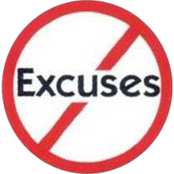 Custom Temporary No Excuses Sign Tattoos