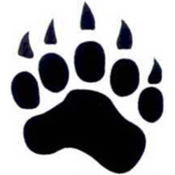 Personalized Temporary Paw Print with Claws tattoos