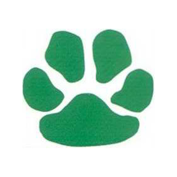 Promotional Green Paw Print Tattoos