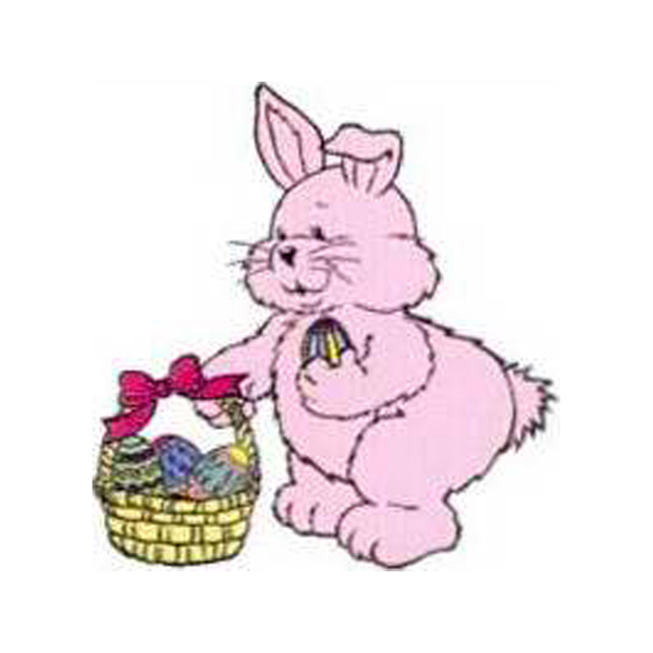 Promotional Temporary Happy Bunny with Basket Tattoo