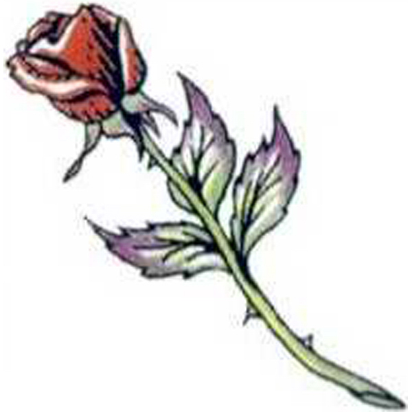 Promotional Temporary Long Stem Rose Tattoos
