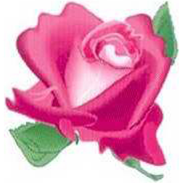 Imprinted Temporary Pink Rose Head Tattoos