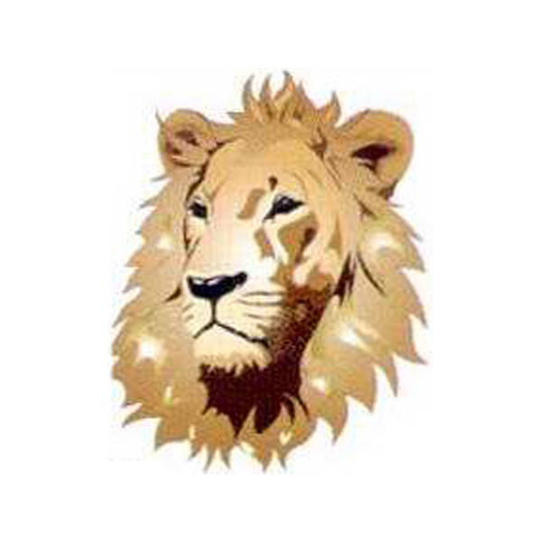 Imprinted Temporary Lion Head tattoos