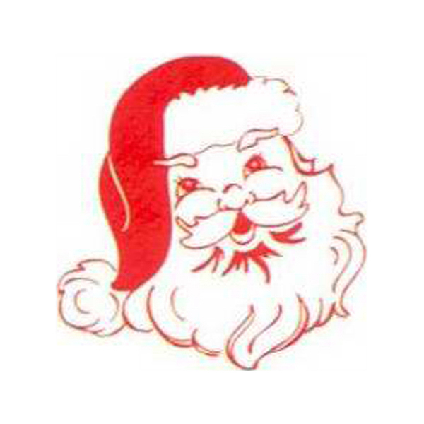 Imprinted Temporary Santa Claus Face Tattoo