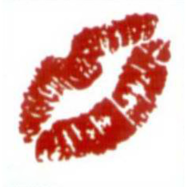 Printed Temporary Red Lips Tattoo