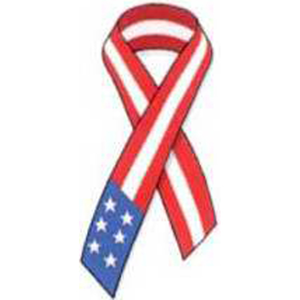 Custom Temporary Red, White and Blue Ribbon Tattoos