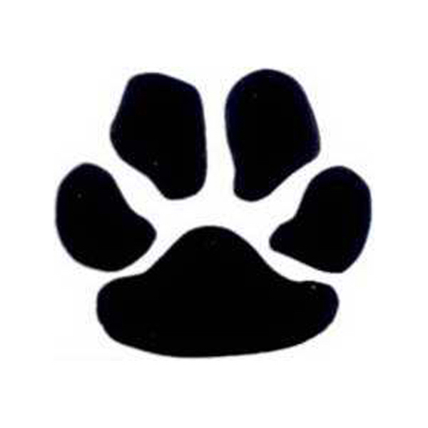 Personalized Temporary Black Paw Print tattoos