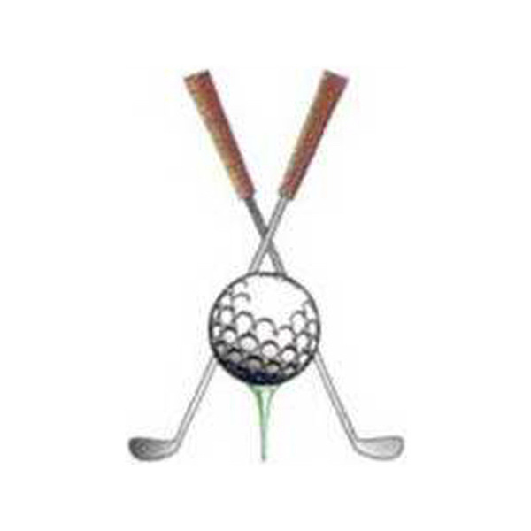 Custom Temporary Crossed golf clubs and golf balls tattoos