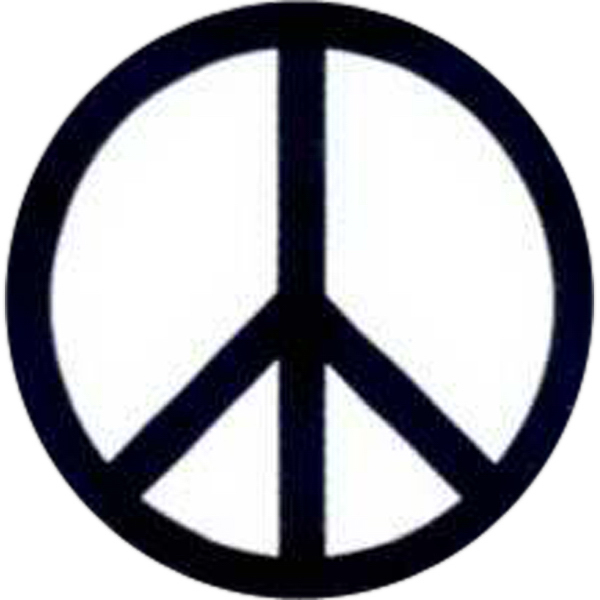Imprinted Temporary Peace Sign Tattoos