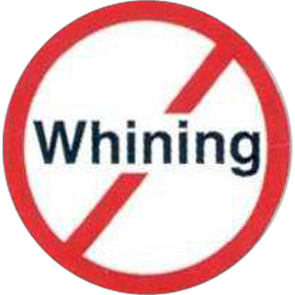 Promotional Temporary No Whining Sign Tattoos