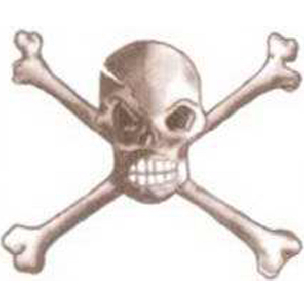 Customized Temporary Skull and Bones Tattoos