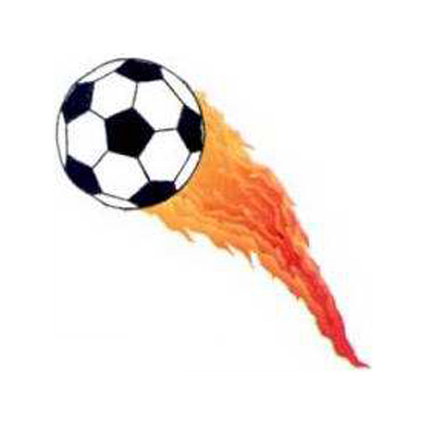Promotional Temporary Flaming Soccer ball tattoos