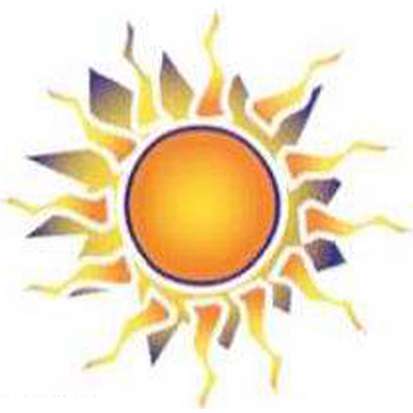 Imprinted Temporary Sun Surrounded by fire Design Tattoos