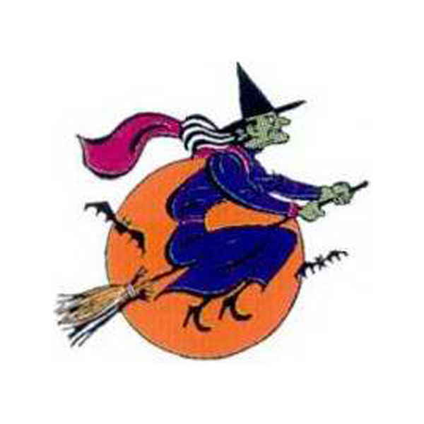 Promotional Temporary Witch on a broom Tattoos