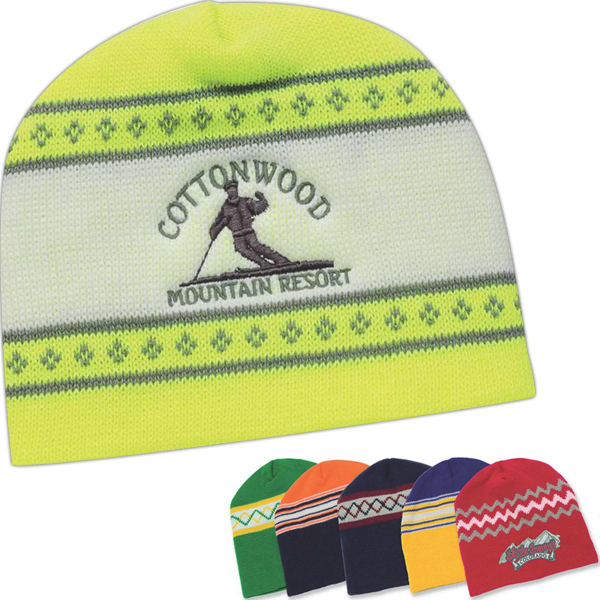 Promotional USA Made Jacquard Knit Cap