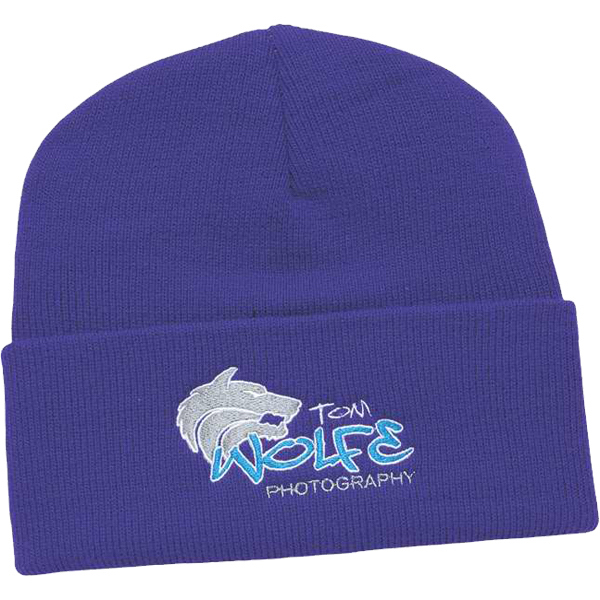 Promotional USA Made Knit Cap with Cuff