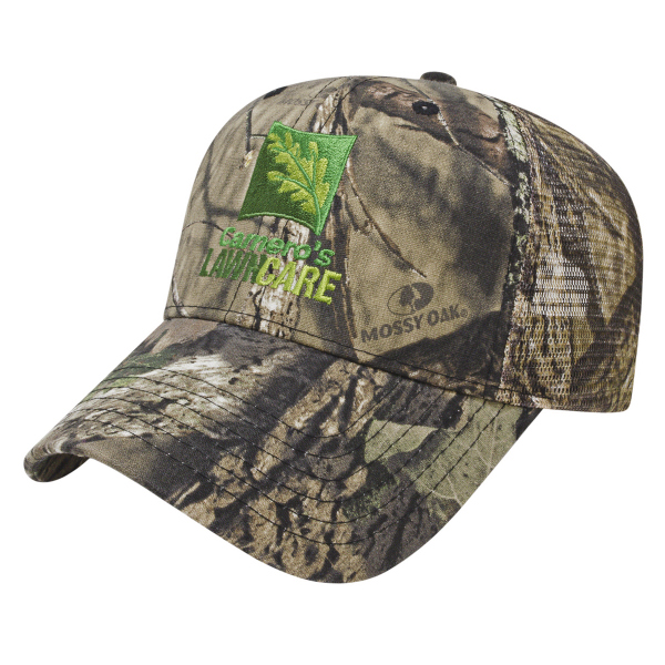 Printed All Over Camo with Mesh Back Cap