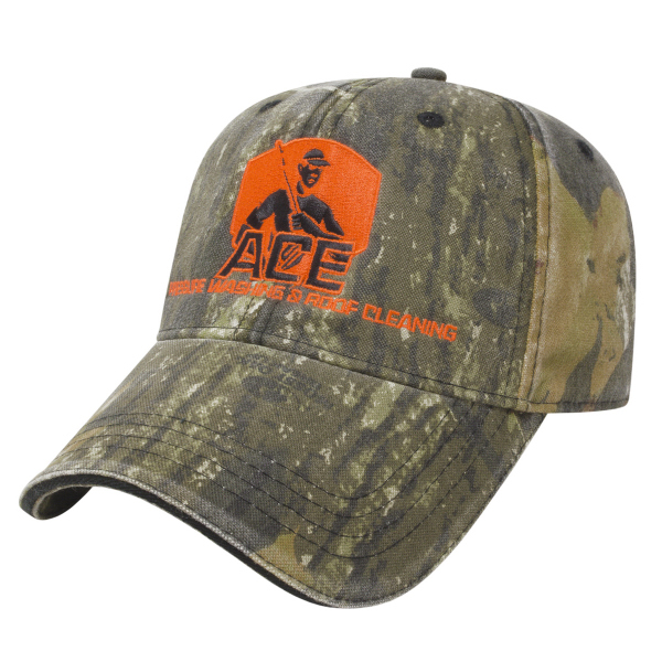 Personalized Washed Camo Cap