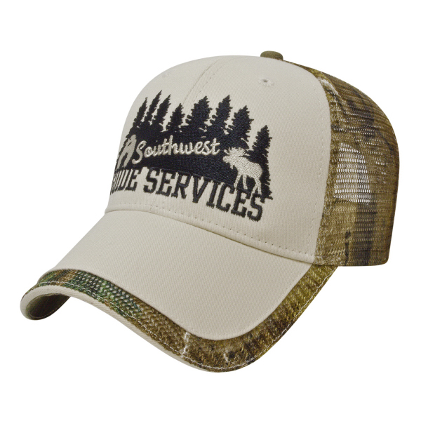 Custom Camo Mesh Back Cap