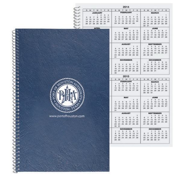 Imprinted Calendar Notebook