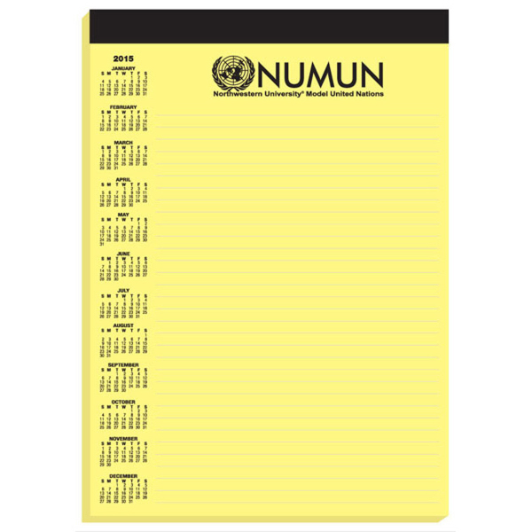 Personalized Legal Pad with Imprinted Sheets