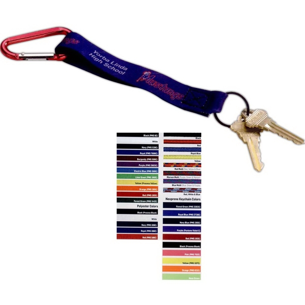 Printed Dye Sublimated Key Chain with Carabiner
