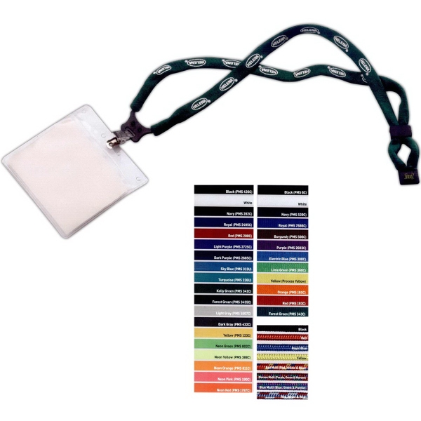 Promotional Dual Use Cotton Trade Show Lanyard