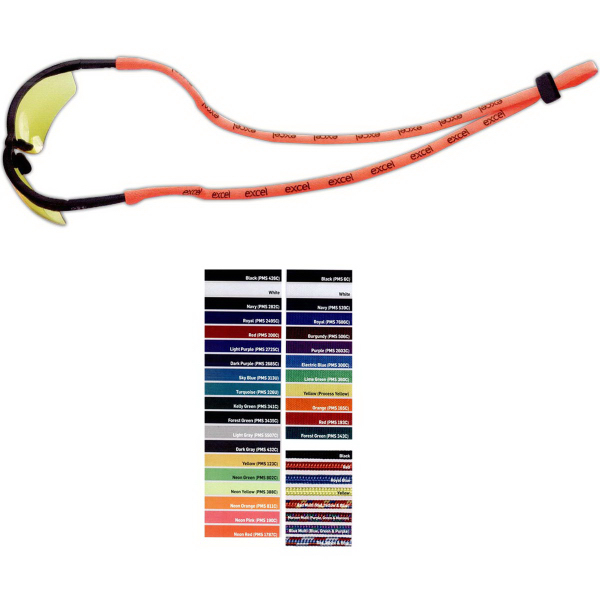 Custom Dual-Use Stretchy Elastic Polyester Trade Show Lanyard