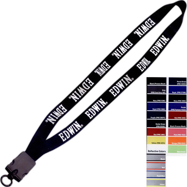 "Imprinted 3/4"" Stretchy Elastic Lanyard"