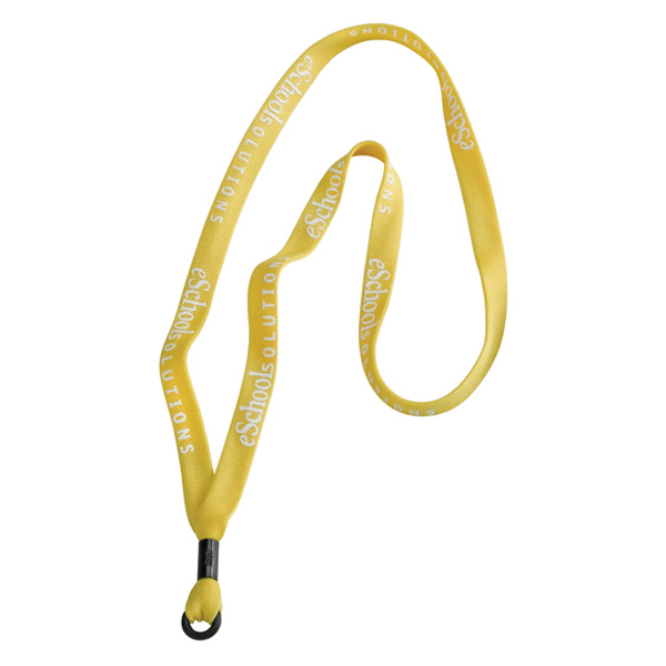 "Customized 5/8"" Polyester Lanyard with Metal Crimp and Rubber O-Ring"