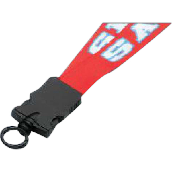 """Personalized 3/4"""" Lanyard w/Plastic Snap-Buckle Release & O-Ring"""