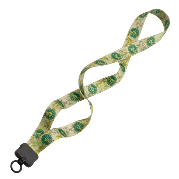 "Personalized 3/4"" Recycled PET Dye-Sublimated Lanyard"