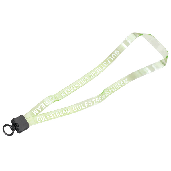 "Customized 1/2"" Transparent Vinyl Lanyard w/Plastic Clamshell & O-Ring"