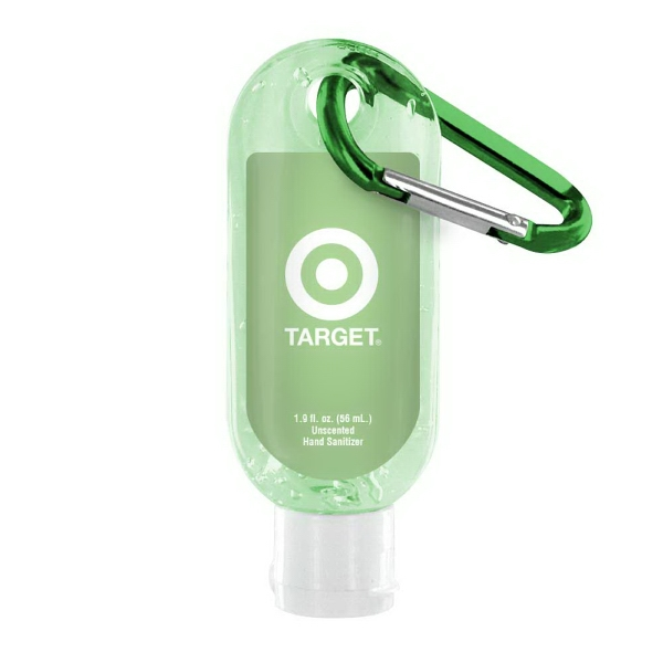 Printed 1.9 oz Tinted Sanitizer with Carabiner
