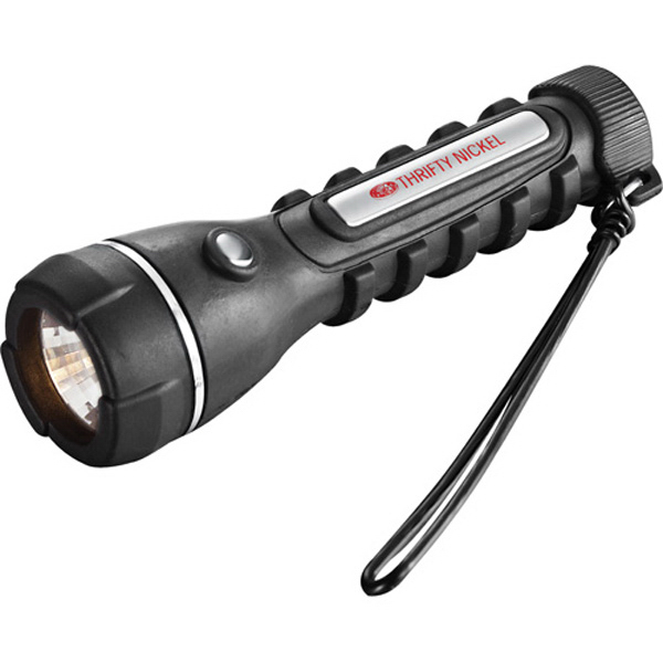 Imprinted Grip 2AA Krypton Flashlight