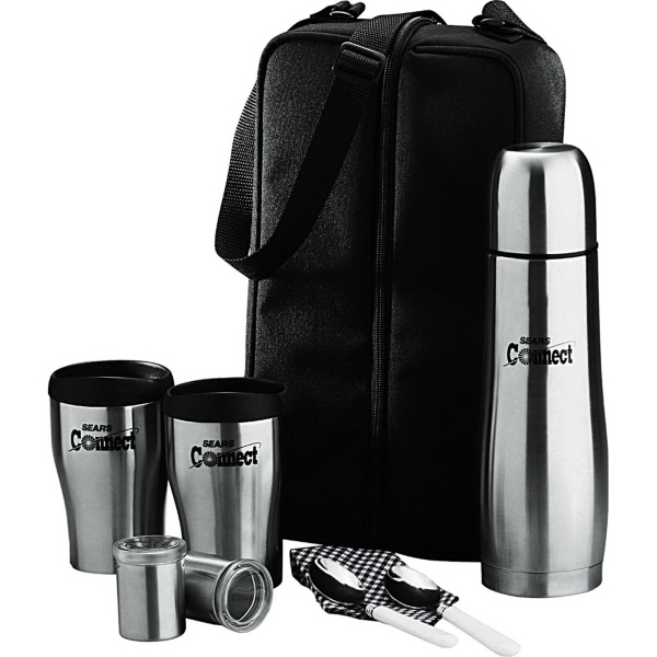 Promotional Cafe Tote for Two 24 oz