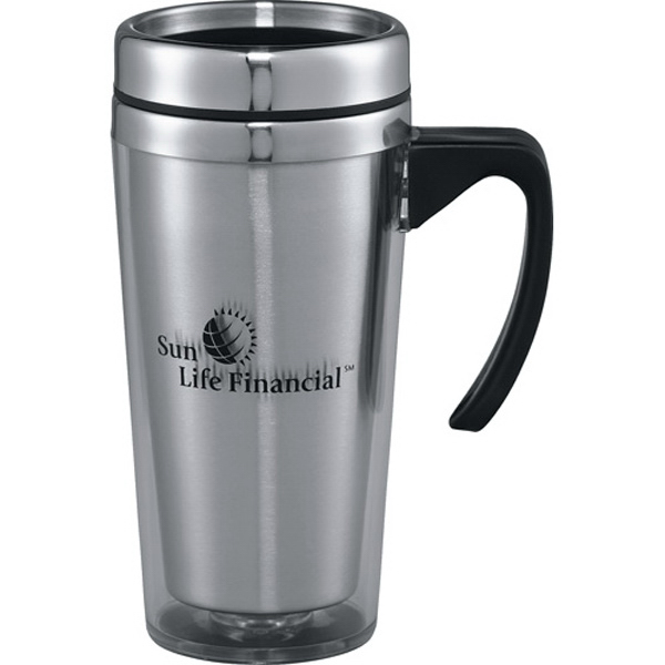 Imprinted Glacier Travel Mug 16 oz