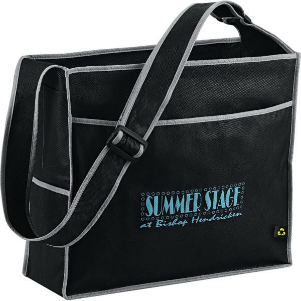 Custom PolyPro Non-Woven Deluxe Box Convention Tote