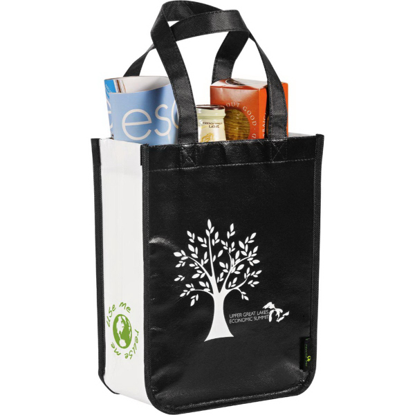 Imprinted Laminated Non-Woven Small Shopper Tote