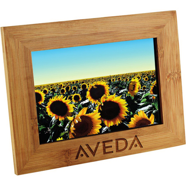 Imprinted Bamboo Photo Frame