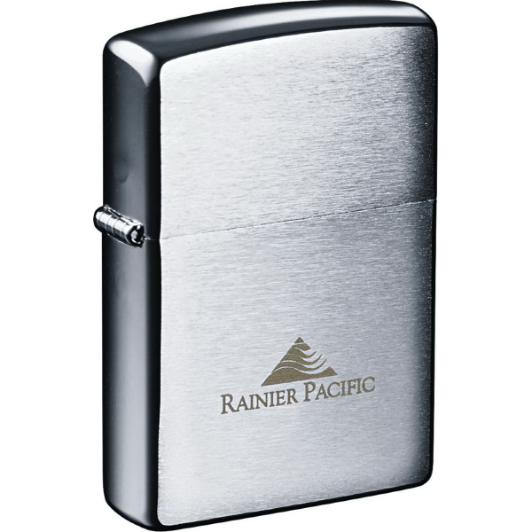 Imprinted Zippo (R) Windproof Lighter Brush Chrome