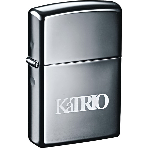 Imprinted Zippo (R) Windproof Lighter Black Ice