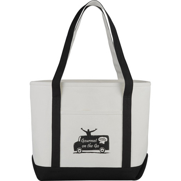 Imprinted Premium Heavy Weight Cotton Boat Tote