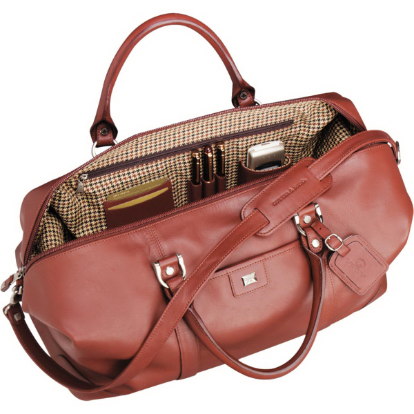 Customized Cutter & Buck (R) Leather Weekender Duffel Bag
