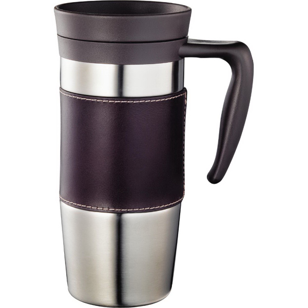 Custom Cutter & Buck (R) American Classic Leather Mug 14 oz