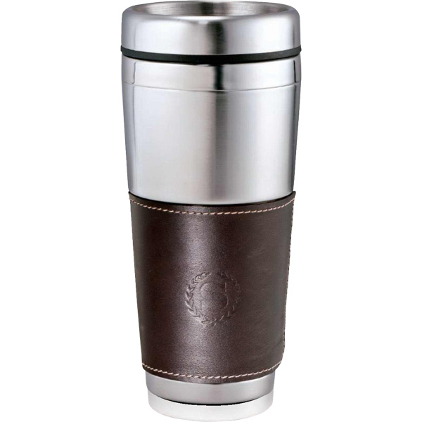 Printed Cutter & Buck (R) American Classic Leather Tumbler 16oz