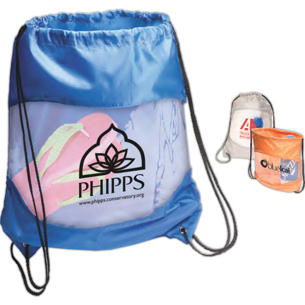 Customized Clear-View Drawstring Bag