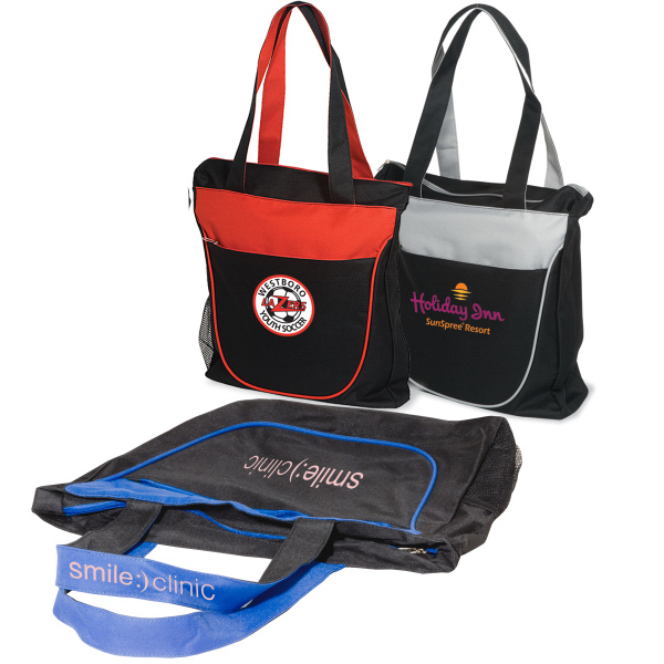 Promotional Duo-Tone Zippered Tote